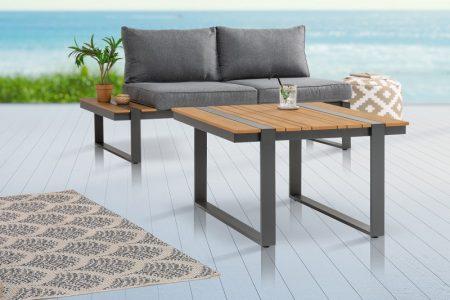 Garten-Konferenčný stolík Tampa Lounge 78cm Polywood prírodná