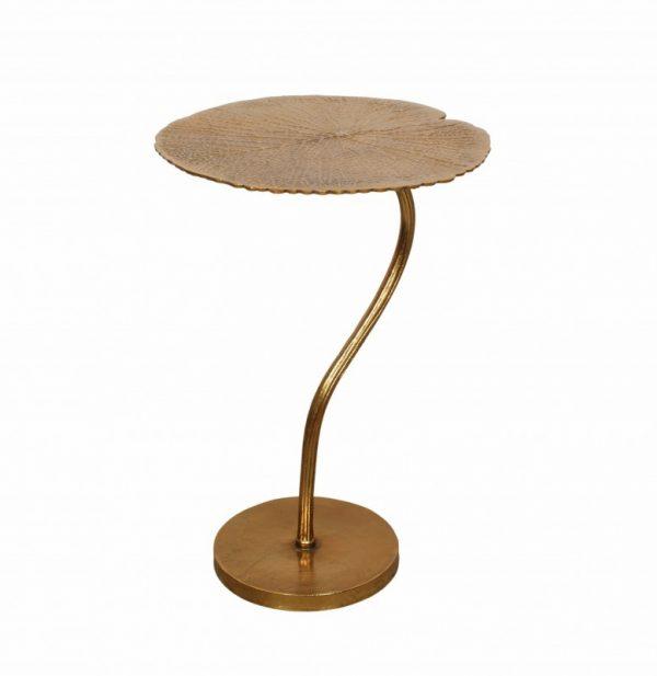 Konferenčný stolík Leaf 42cm zlatá