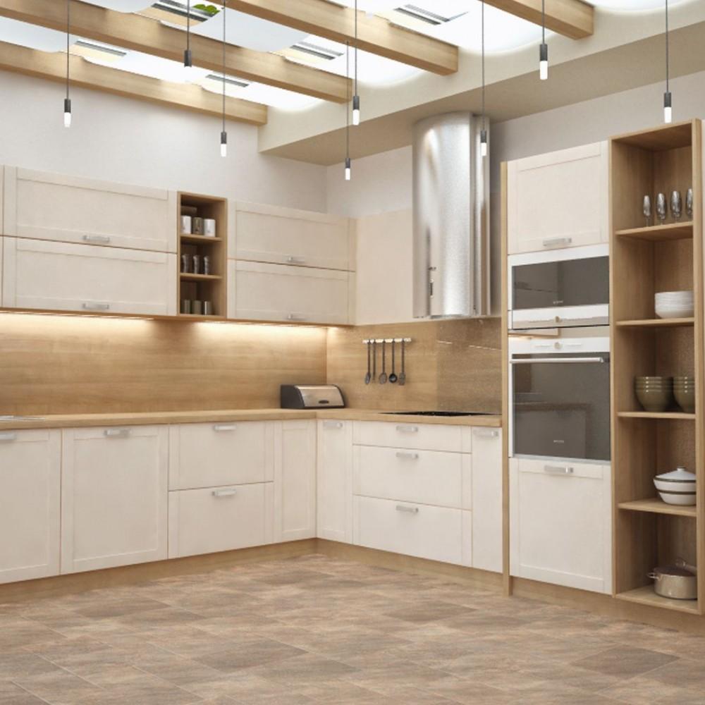 Drevené podlahy v modernej a klasickej kuchyni
