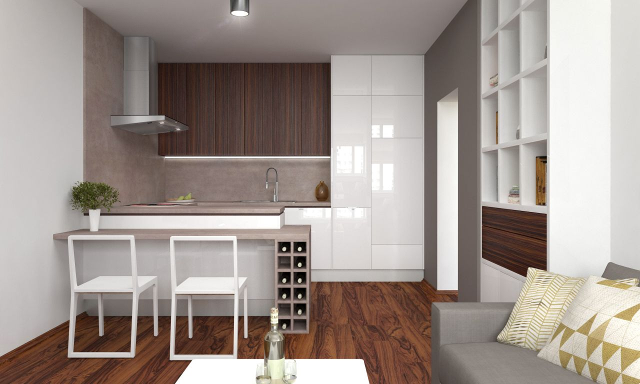 Kuchyňa s obývačkou 01
