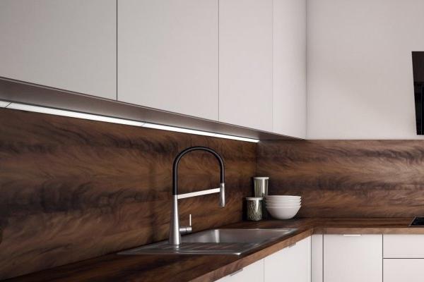 Lacné kuchyne - detail LED osvetlenia