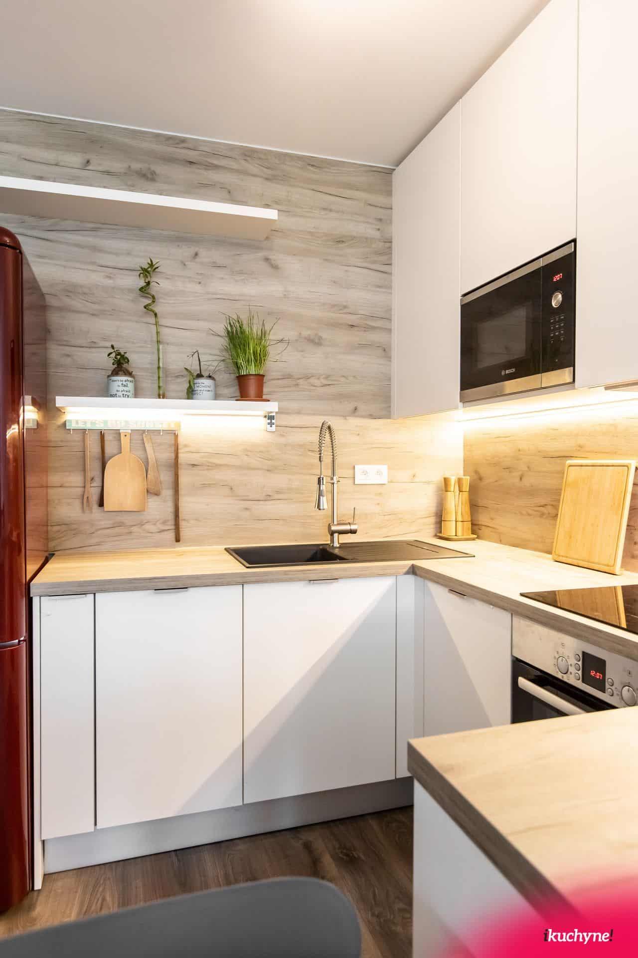 biela kuchyňa detail
