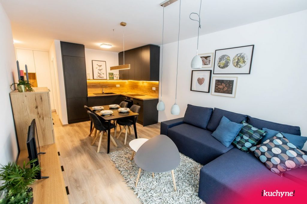 malé krasňany kuchyňa s obývačkou