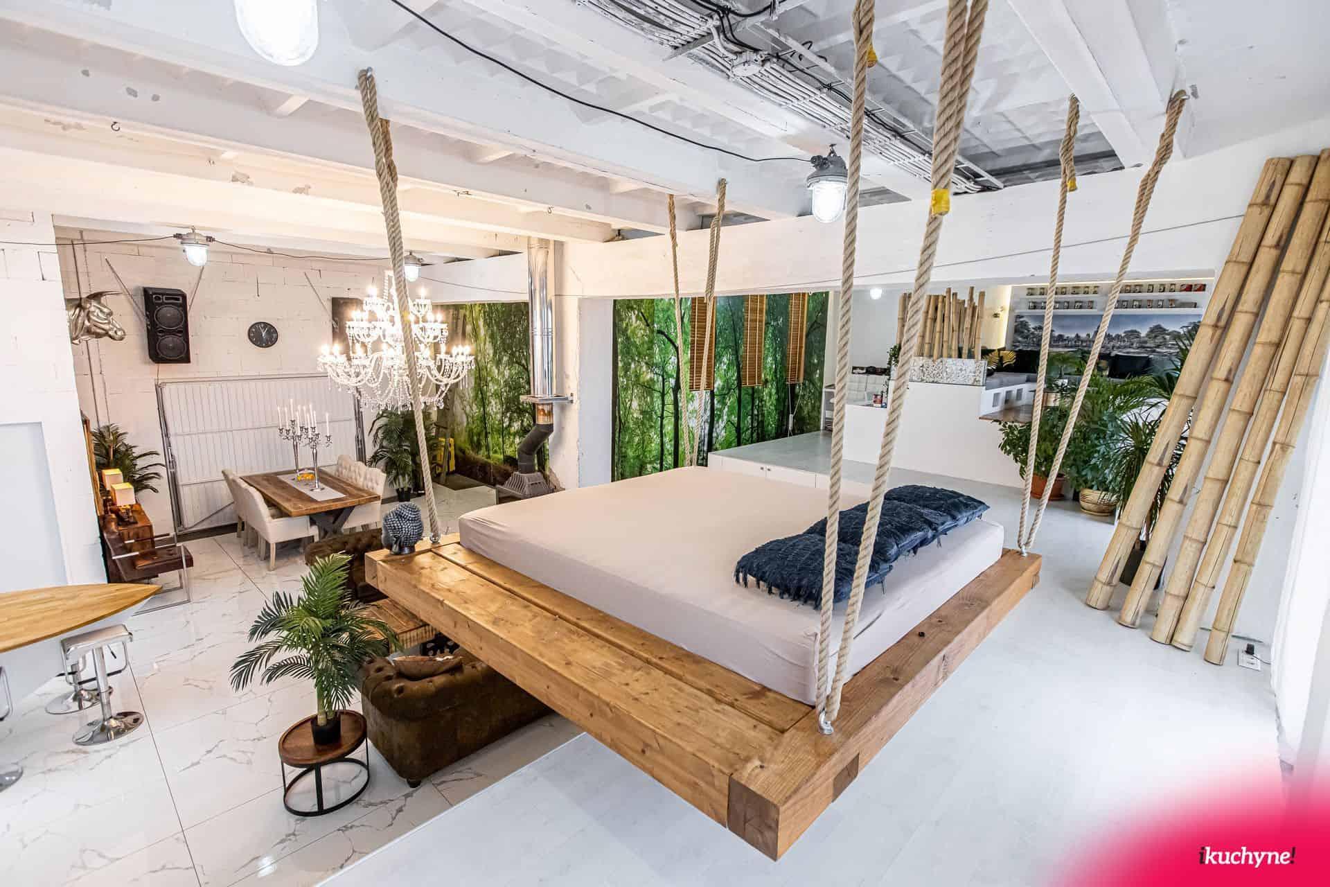 loft levitujuca postel